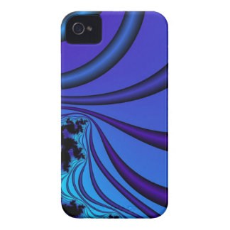 blue ribbons fractal iPhone 4 Case-Mate case
