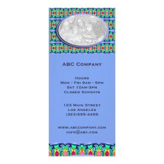 blue ribbons frame custom rack card