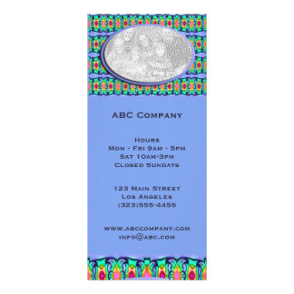 blue ribbons frame customized rack card