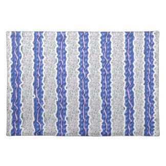 blue ribbons placemat