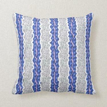 blue ribbons throw pillows