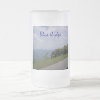 Blue Ridge 2 Frosted Glass Beer Mug