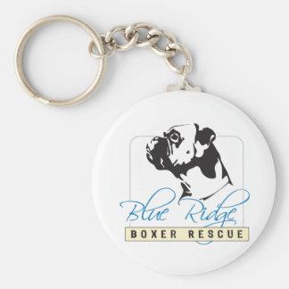 Blue Ridge Boxer Rescue Basic Round Button Keychain