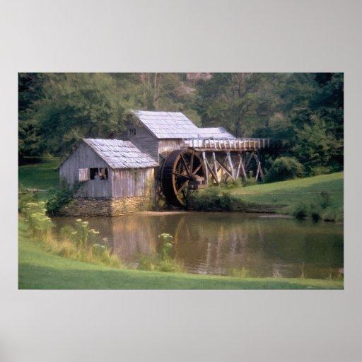 Blue Ridge Mill Pond Poster