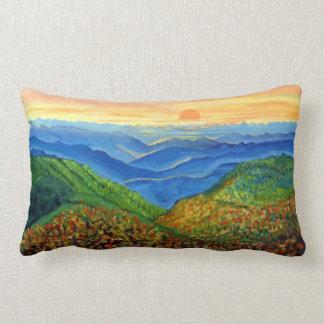 Blue Ridge Morning Throw Pillow Lumbar 13x21
