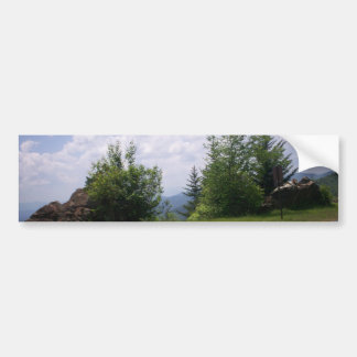 Blue Ridge Motorcycle Mountain View Bumper Sticker