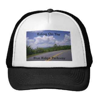 Blue Ridge Motorcycle Mountains Road and Trees Hats