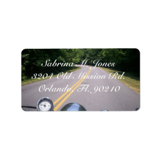 Blue Ridge Motorcycle Ride 3 Address Label
