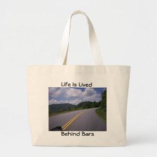 Blue Ridge Motorcycle View Turn Canvas Bag