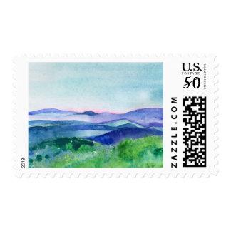 Blue Ridge Mountain Landscape Stamp