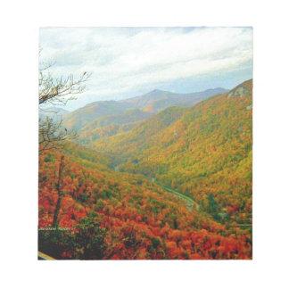 Blue Ridge Mountain Range of North Carolina Scratch Pads