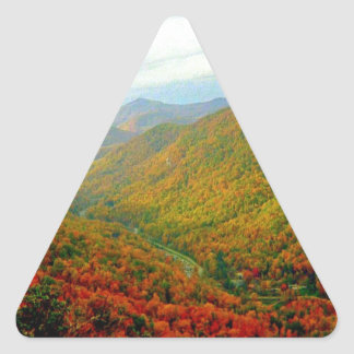 Blue Ridge Mountain Range of North Carolina Triangle Sticker
