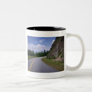 Blue Ridge Mountain Rock Road Coffee Mugs