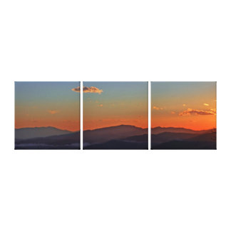 Blue Ridge Mountain Sunset Panorama Canvas Print