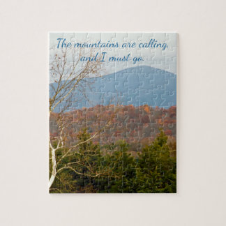 Blue Ridge Mountains Are Calling I Must Go | Quote Jigsaw Puzzle