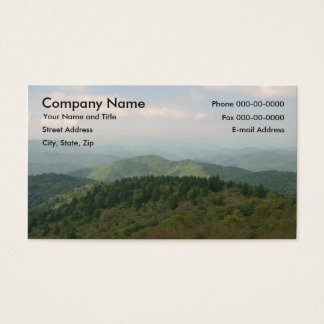 Blue Ridge Mountains Business Card