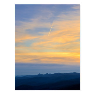 Blue Ridge Mountains Contrail Postcard