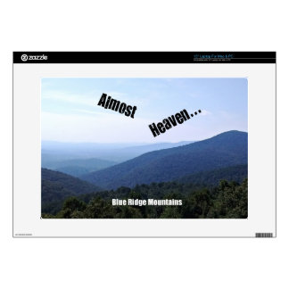 "Blue Ridge Mountains Decal For 15"" Laptop"