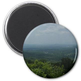 Blue Ridge Mountains Imán Redondo 5 Cm
