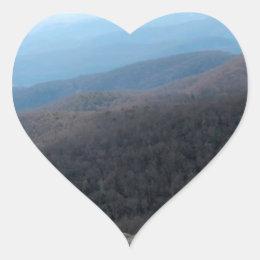 Blue Ridge Mountains in North Carolina Heart Sticker