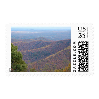 Blue Ridge Mountains in the Fall Design 2 Postage