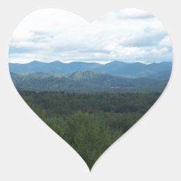 Blue Ridge Mountains - NC Heart Sticker