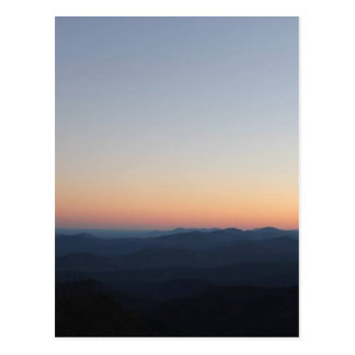 Blue Ridge Mountains Sunset Postcard