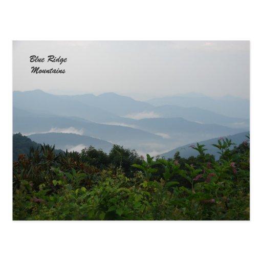 Blue Ridge Mountains Tarjeta Postal