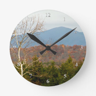 Blue Ridge Mountains VA Shenandoah Valley Photo Round Clock