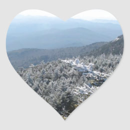 Blue Ridge Mountains Winter Heart Sticker