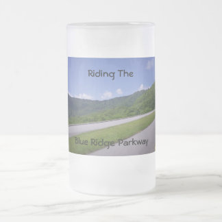 Blue Ridge Overview Pulloff Frosted Glass Beer Mug