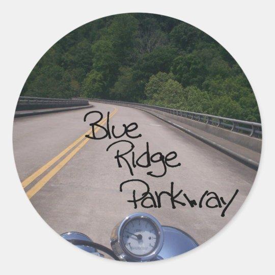 Blue Ridge Parkway2 Classic Round Sticker