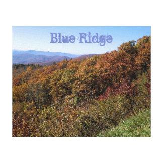 Blue Ridge Parkway Colors - Wrapped Canvas
