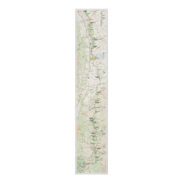 Blue Ridge Parkway map poster