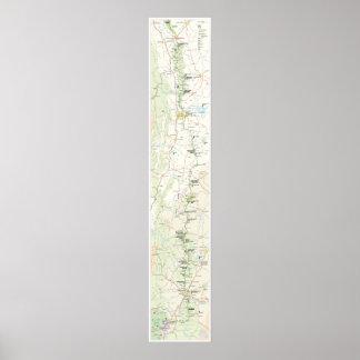 Blue Ridge Parkway map poster