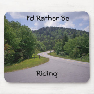 Blue Ridge Parkway Motorcycle Mouse Pad