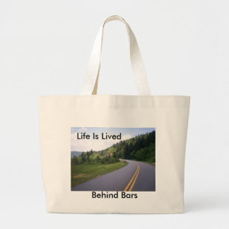 Blue Ridge Parkway Motorcycle Pulled Over Tote Bag