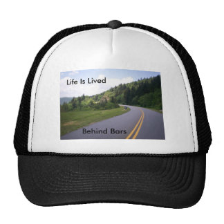 Blue Ridge Parkway Motorcycle Pulled Over Trucker Hat