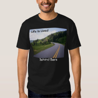 Blue Ridge Parkway Motorcycle Pulled Over Tee Shirt