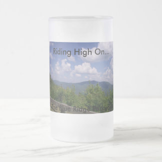 Blue Ridge Parkway Mountain View Frosted Glass Beer Mug