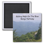Blue Ridge Parkway Road with Mountains Fridge Magnets
