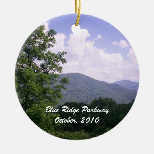 Blue Ridge Parkway Scenic Route Ceramic Ornament