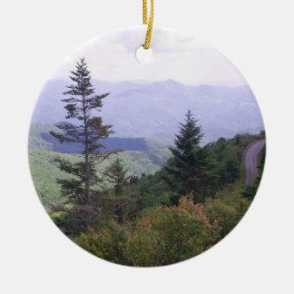 Blue Ridge Parkway Scenic Route Ceramic Ornament