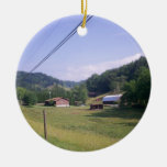 Blue Ridge Parkway Scenic Route Double-Sided Ceramic Round Christmas Ornament