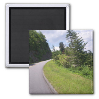 Blue Ridge Parkway Steep 2 Inch Square Magnet