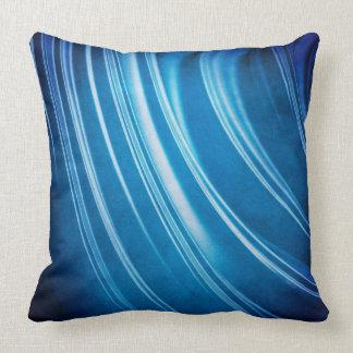 Blue Ridges Fractal Throw Pillow