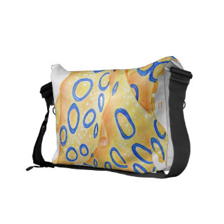 Blue Ring Octopus Messenger Bag