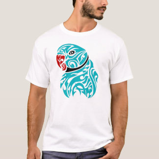 Blue ringneck parrot tattoo T-Shirt