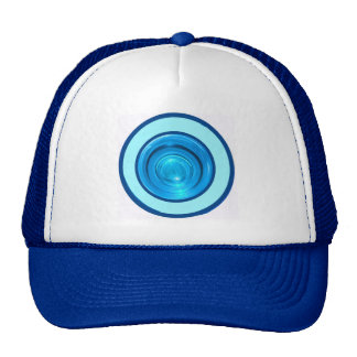 Blue Rings / Circles From Bottom Coloured Glass Trucker Hat