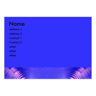blue ripple fractal large business card